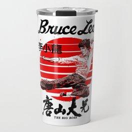 "Bruce ""The little Dragon"" Lee By La Brea Travel Mug"