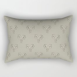 Floral Print Drawing Pattern Rectangular Pillow
