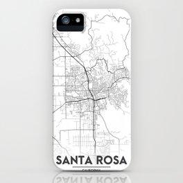Minimal City Maps - Map Of Santa Rosa, California, United States iPhone Case