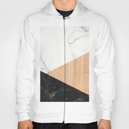 Marble and Wood Abstract Hoody