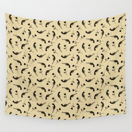 Roses & Revolvers // Tan Wall Tapestry