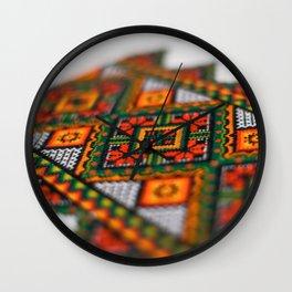 Ukrainian embroidered towel Wall Clock