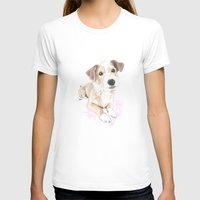 jack russell T-shirts featuring Jack russell terrier love by Nemimakeit