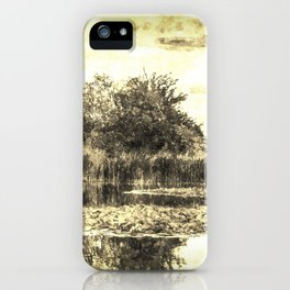 Lilly Pond Vintage iPhone Case
