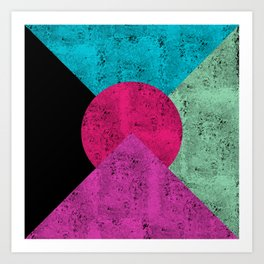 Colorful Abstract Geometric Background Art Print