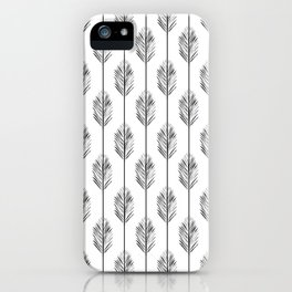 Black and White Redwood Leaf iPhone Case