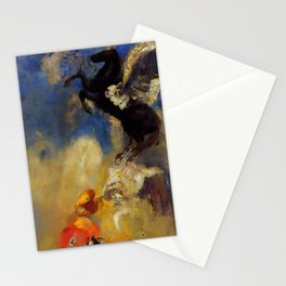 "Odilon Redon ""The Black Pegasus"" Stationery Cards"