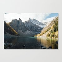 agnes cecile Canvas Prints featuring Lake Agnes by All The Way Photography