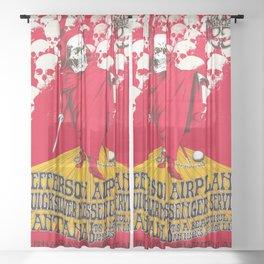 1968 Winterland Ballroom Rock and Roll Festival Concert Gig Vintage Poster Sheer Curtain