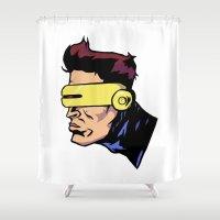 xmen Shower Curtains featuring x3 by jason st paul