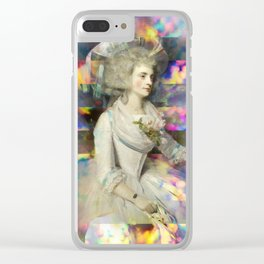 Woman in White Clear iPhone Case