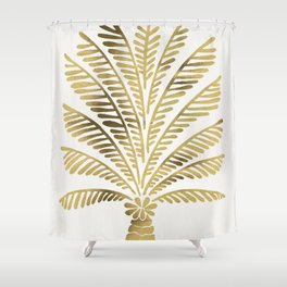 Palm Tree – Gold Palette Shower Curtain