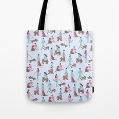People & Dogs Tote Bag