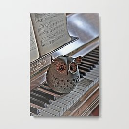 the pianos Owl HDR Metal Print