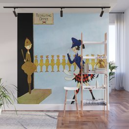 """""""Recruiting Office"""" by Annie Fish Wall Mural"""