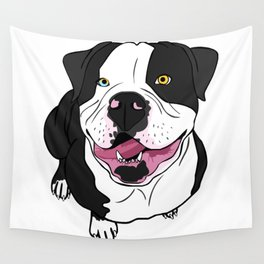 Bubba, the American Bulldog Wall Tapestry