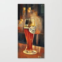 beer Canvas Prints featuring Beer by Burnt in Sienna