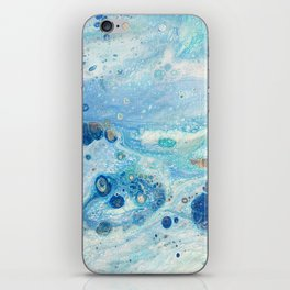 Under the Sea - Blue Abstract Acrylic Pour Art iPhone Skin