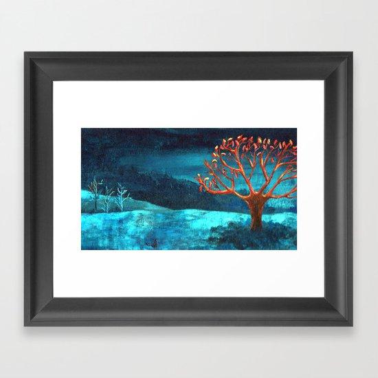 PAISAJE AZUL Framed Art Print