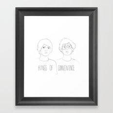 Kings of Convenience Framed Art Print