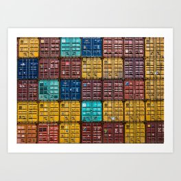 Shipping Containers Art Print