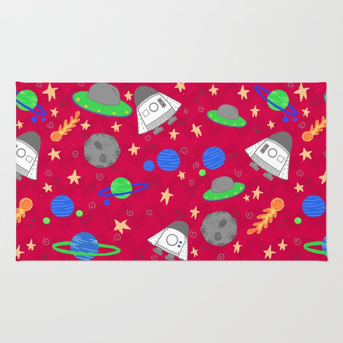 Space Ships Rug