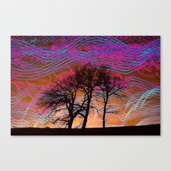 Disco Dancing Trees Canvas Print