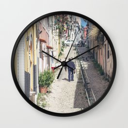 Hilly Lisbon Wall Clock