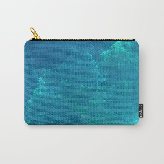 Abstract Fractal Design 20 - Frozen Blue Carry-All Pouch