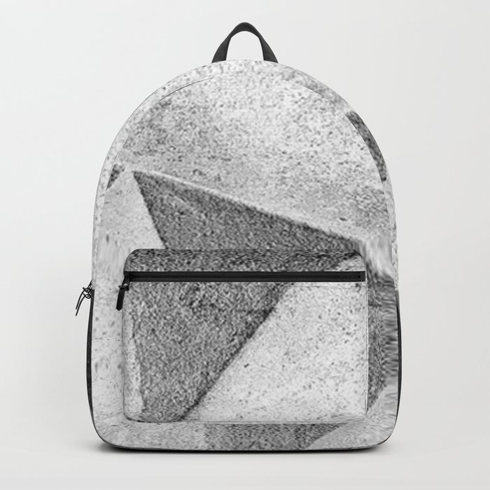 Black and White Abstract Backpack