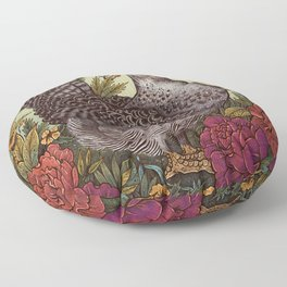 Rose Hen Floor Pillow
