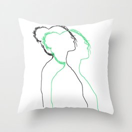 Two Sillhouettes Throw Pillow