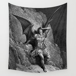 Gustave Dore - Paradise Lost Satan Profile Wall Tapestry