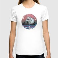 clouds T-shirts featuring Lone Wolf by Mat Miller