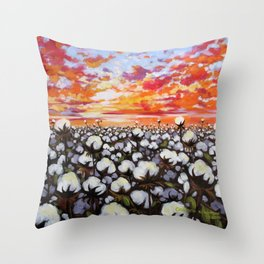 Golden Delta Throw Pillow