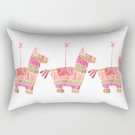 Mexican Donkey Piñata – Pink & Rose Gold Palette Rectangular Pillow