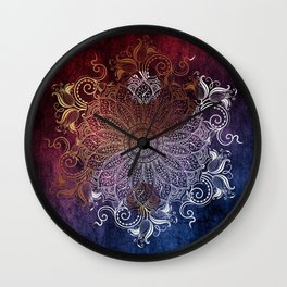 Mandala - Fire & Ice, yang version Wall Clock