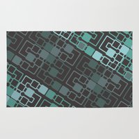 geo Area & Throw Rugs featuring Geo by MICALI/ M J