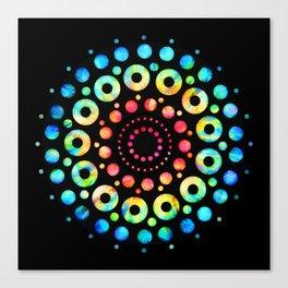 Multi-Color Mandala Tie-Dye Circle Shapes Canvas Print