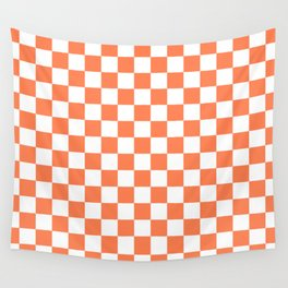 Checker (Coral/White) Wall Tapestry