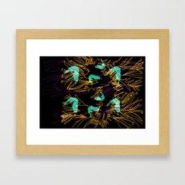 Corals and Crustaceans Burst Framed Art Print