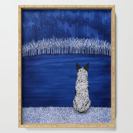 Blue Forest, Starry Sky (Blue Heeler) Serving Tray