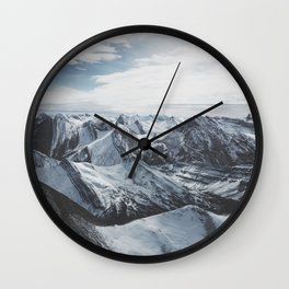 Snowy Mountains of Alberta Wall Clock