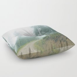 Into the clouds Floor Pillow