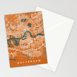Rotterdam Netherlands Map | Coffee & Green | More Colors, Review My Collections Stationery Cards