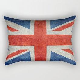 British flag of the UK, retro style Rectangular Pillow