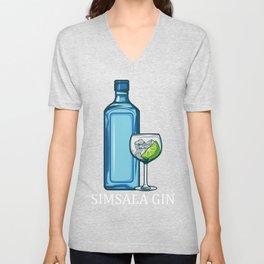 Simsala Gin Alcohol Magic Drink Ice Cream Joke Gift Unisex V-Neck