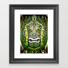 Green Moon TiKi Framed Art Print