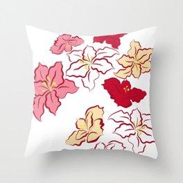 Poinsettia - 4 colors Throw Pillow