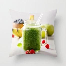 green smoothie Throw Pillow